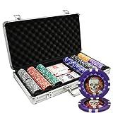MRC 300pcs Skull Poker Chips Set with Aluminum Case Custom Build