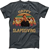 Happy Slapsgiving Vintage Retro T-Shirt Marshall Eriksen How I Met Your Mother Funny Thanksgiving Dark Heather