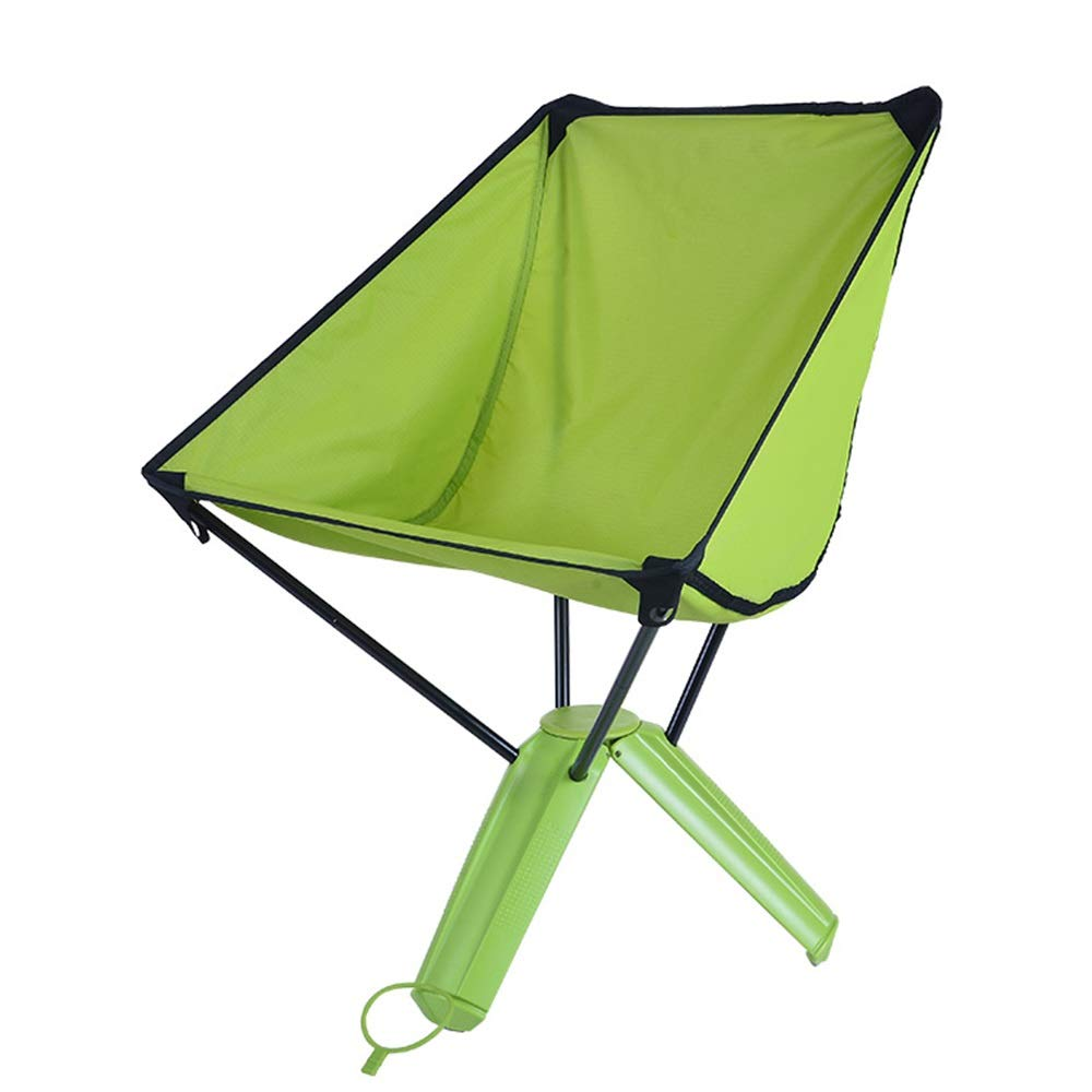 Green Outdoor Folding Chair Foldable Storage Fishing Chair Outdoor Camping Fishing Picnic Barbecue Chair (color   Green)