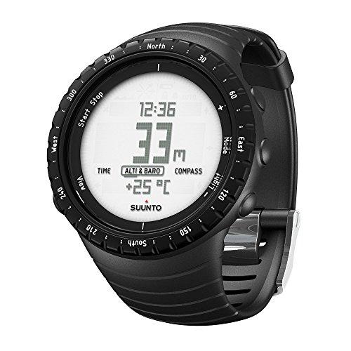 Suunto, Unisex Outdoor-Uhr für alle Höhenlagen, Wasserfest (30 m), Höhenmesser, Barometer, Wetterfunktionen, Robustes Verbundgehäuse, CORE, Standard Schwarz, SS014809000