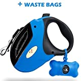 Pet lab USA Retractable Dog Leash with bags, 16 ft Dog Walking Leash for all pets Small Medium and Large Dogs & cats, Durable and Tangle Free, One Button Break & Lock, Pet Waste Dispenser Bags