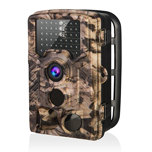 """AIMTOM Trail Hunting Camera 16MP Image 1080P Video 46Pcs IR LEDs Infrared 0.2S Trigger Time Waterproof Night Vision 120° Wide Angle Time Lapse 2.31"""" LCD Screen Scouting Ghost Game Stealth Wildlife Cam"""