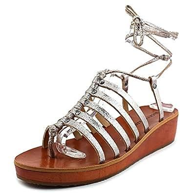 Lucky Brand Hulumi Women US 5 Gray Gladiator Sandal