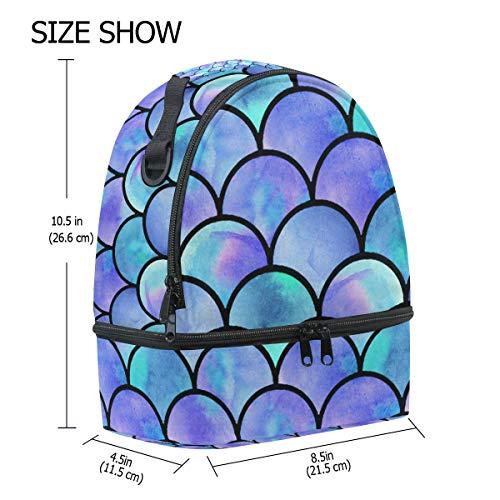 isotherme Boîte coloré sirène Pincnic pour à Cooler à lunch réglable Tote l'école Alinlo bandoulière avec Sac Échelle t40Aww