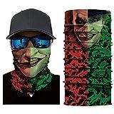 Palalibin 3D Printed Cycling Face Mask Motorcycle Head Scarf Neck Warmer Ski Balaclava Headband 24CM X 49CM (G, Free)