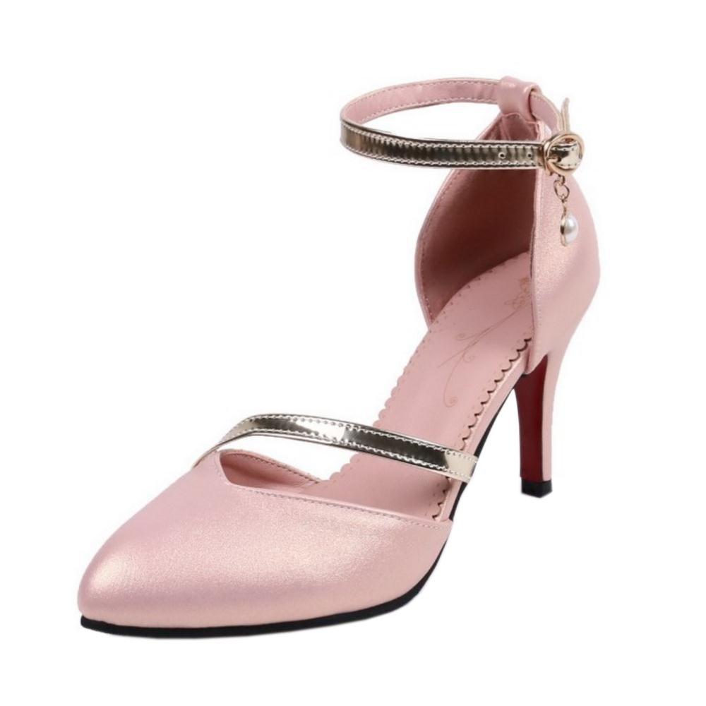 RAZAMAZA Femmes Ferme 6542 Sandales Talons Hauts Bout B072X7P9WB Ferme Escarpins Chaussures Pink 5627848 - epictionpvp.space