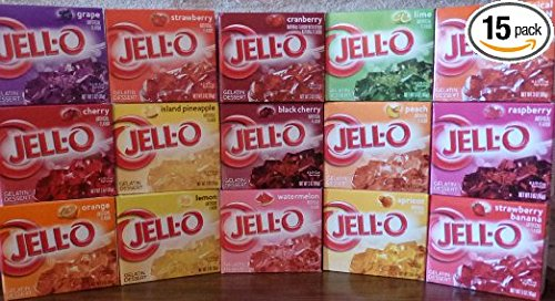 Jell-O Gelatin Sampler (Pack of 15 Different