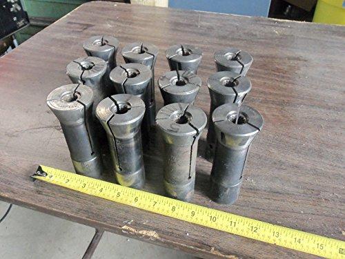 LOT OF 12PCS BALAS COLLETS SERRATED TURRET LATHE MACHINE SHOP TOOLMAKER TOOLS ()