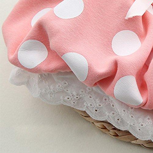 CM-CG Baby Girls' Dots Lace Hem Velvet Chest Ruffled Dress Outerwear 6-18M