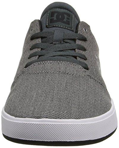 DC Men's Crisis TX SE Skate Shoe, Grey/White, 8 D US