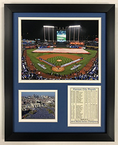 Legends Never Die Kansas City Royals - 2015 World Series- Kauffman Stadium - Framed 12