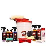 Jax Wax Complete Scratch-Free Wash Wax and Detail Bucket Car Care Organizer Kit
