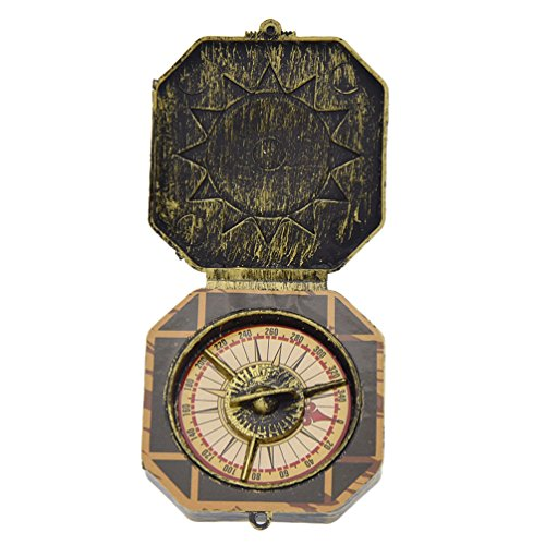 BetterUS Nautical Compass Pirate Captain Costume Toy Theme Party Cosplay Supply