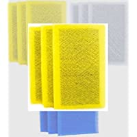 OEM Electro Breeze 6 Pack +1 free replacement filter pads 16x25 for Clean Air Defense System Air Ranger air cleaner - Measure the air cleaner frame, not the pad! - (Yellow)