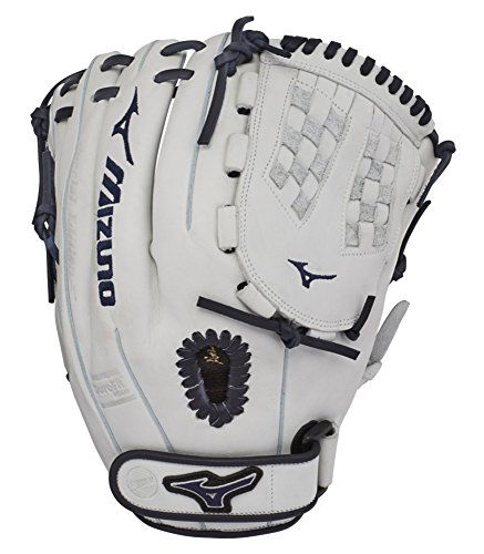 "Mizuno GMVP1200PSEF7 MVP Prime SE Fastpitch Softball Gloves, 12"" White/Navy, Right Hand Throw"