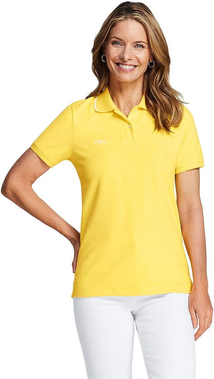 Lands End Womens Mesh Cotton Short Sleeve Polo Shirt