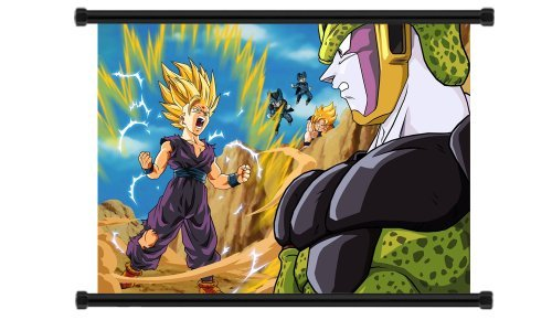 Dragon Ball Z Super Saiyan Gohan Anime Fabric Wall Scroll Poster