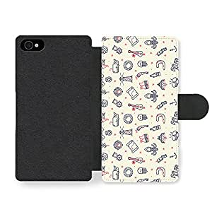 Guitar Map Octopus Ship Anchor Star Beach New Cool Style Design Faux Leather case for iPhone 4 4S