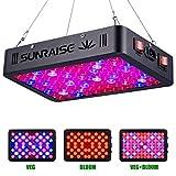 SUNRAISE 1000W LED Grow Light Full Spectrum for Indoor Plants Veg and Flower LED Grow Lamp with Daisy Chain Design Triple-Chips LED (15W LED 96pcs)