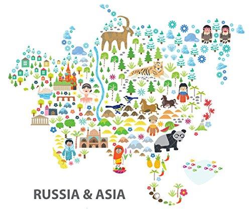 Amazon pop and lolli medium iconic cultural world map wall amazon pop and lolli medium iconic cultural world map wall decals baby gumiabroncs Images