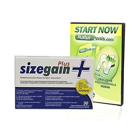 500Cosmetics SizeGain Plus + Naturpenis Tabletten zur Penisvergrößerung