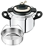 T-fal pressure cooker ''Kuripuso arch'' one-touch opening and closing IH corresponding Ivory 6L P4360731