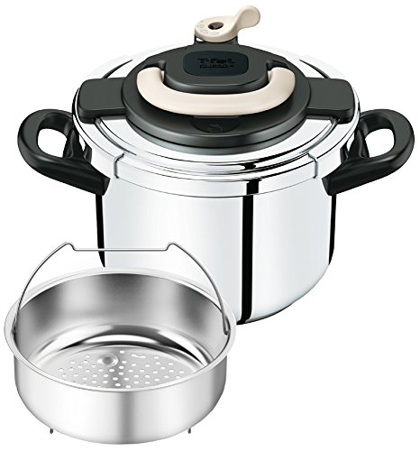 T-fal pressure cooker ''Kuripuso arch'' one-touch opening and closing IH corresponding Ivory 6L P4360731 by T-fal