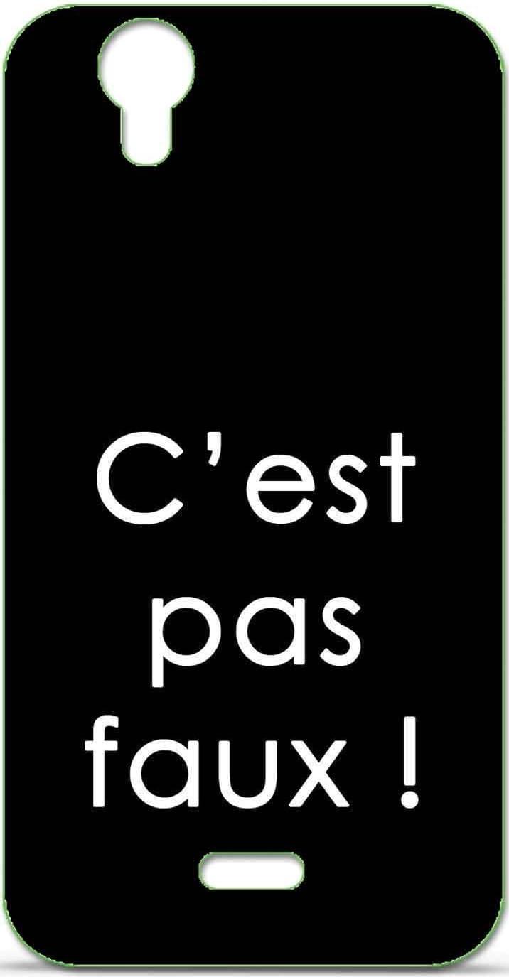 Coque TPU Gel Souple Wiko Birdy Design Citation C'est Pas Faux ...