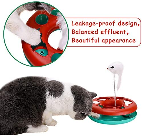 Interactive Cat Toys Tracks Roller Catch Ball Pet Kitten Fun Toy with Teaser Mouse Exercise 5
