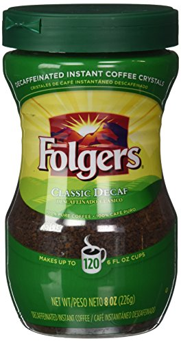 Folgers Classic Decaf Instant Coffee 8 oz