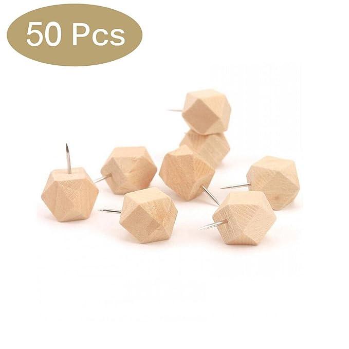 Teeya la madera original Push Pins extra grande de madera ...