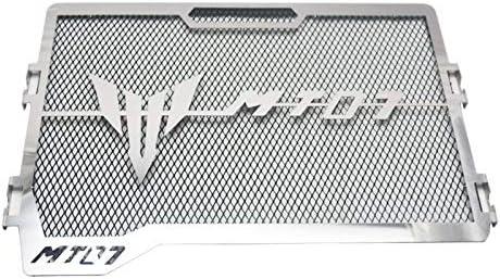 Parrilla de Acero Inoxidable para radiador de Motocicleta para Y-AMAHA MT-07 MT07 14-18 de la Marca Diskooker