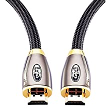 HDMI Cable 5ft - HDMI 2.0(4K@60Hz) Ready -18Gbps-28AWG Braided Cord -Gold Plated Connectors -Ethernet,Audio Return - Video 4K 2160p, HD 1080p, 3D - Xbox PlayStation PS3 PS4 PC Apple TV -IBRA RED