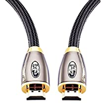 HDMI Cable 3ft - HDMI 2.0(4K@60Hz) Ready -18Gbps-28AWG Braided Cord -Gold Plated Connectors -Ethernet,Audio Return - Video 4K 2160p, HD 1080p, 3D - Xbox PlayStation PS3 PS4 PC Apple TV -IBRA RED