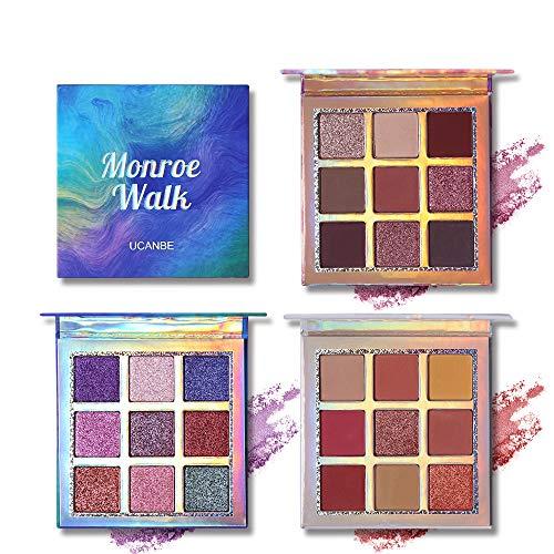 Professional 9 Colors Eyeshadow Makeup Palette Pigmented Shimmer Matte Smooth Blending Long Lasting Eye Shadow Set