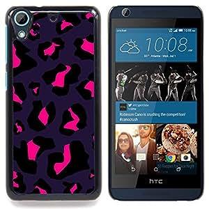 FOR HTC Desire 626 & 626s Queen Pattern - Leopard Purple Black Pink Bright Spots - Doble capa de armadura de la cubierta del caso del protector -