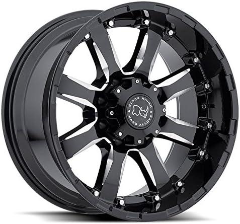 BLACK RHINO SIERRA 17x9.0 5//127 ET-12 CB78.1 GLOSS BLACK W//MILLED SPOKES
