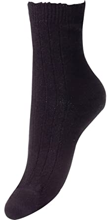 9eac8a51735 Image Unavailable. Image not available for. Color  Pantherella Womens  Tabitha Rib Cashmere Socks ...