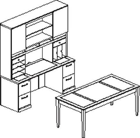 ioneyes sorrento typical 17 computer desk in espresso veneer - Sorrento Vertical Hutch Organizer