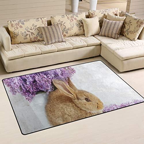 Minalo Non-Slip Area Rugs,Photo of Beautiful Rabbit
