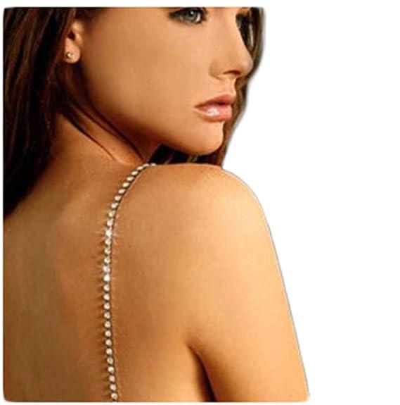 Mujer Diamante Cristal Unica Fila Correas Del Sujetador Tirantes Para Sujetador Un Par: Amazon.es: Ropa y accesorios