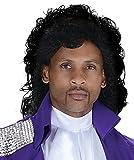 UHC Men's Purple Rain Pop Singer Prince Wig Adult Halloween Costume Accessory