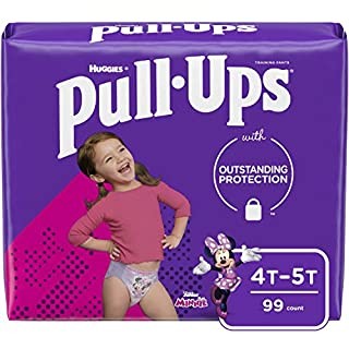 Pull-Ups Learning Designs Girls' Training Pants, 4T-5T, 99 Ct