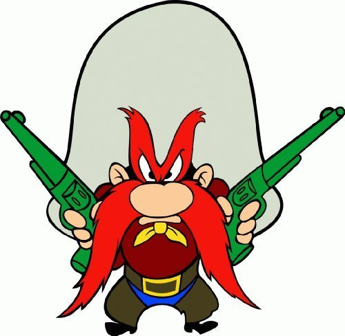 Yosemite Sam Cartoon Car Bumper Sticker Decal 5