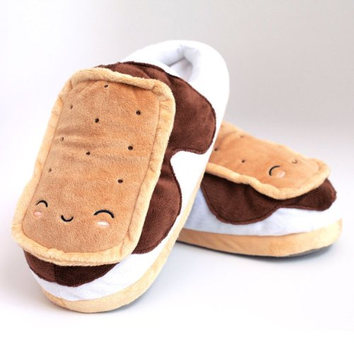 SMOKO Heated Smores Slippers, Plush Feet Warmers with USB Electric Heating, Cute Kawaii Slip Ons
