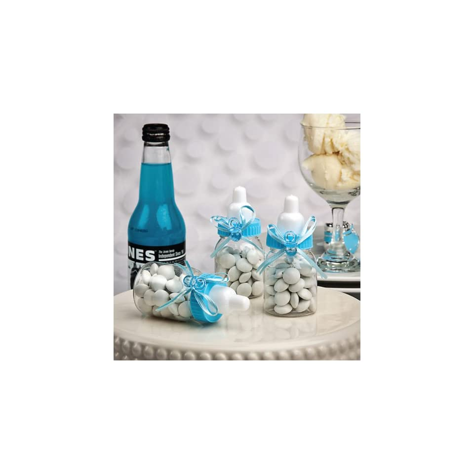 Fashioncraft Perfectly Plain Collection Blue Baby Bottle Favors