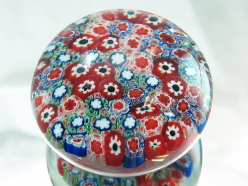 M Design Art Handcraft Rainbow Mix Millefiori Art Glass Paperweight PW-1112 Tripact Inc TRIPACTPW-1112