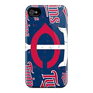 TimeaJoyce Iphone 4/4s Anti-Scratch Hard Cell-phone Case Allow Personal Design Beautiful Minnesota Twins Image [HVe4861pYIH]