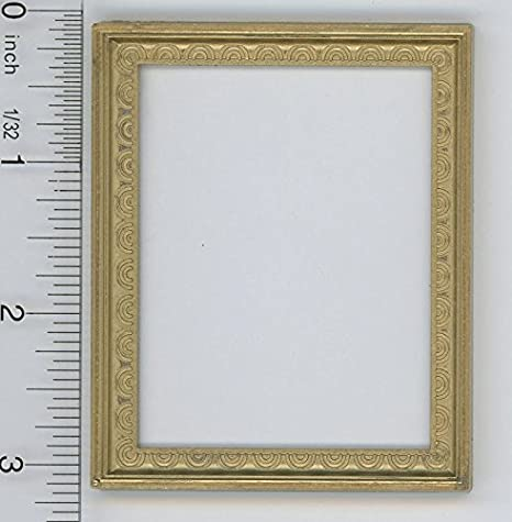 Dollhouse Miniature 1:12 Scale Small Rectangular Gold Picture Frame