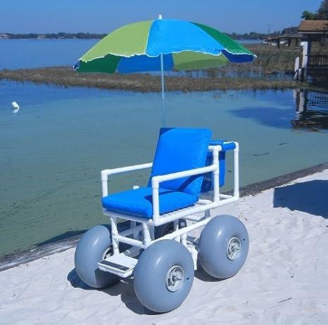 Amazon.com: Beach Wheelchair (Large Tires) (Blue): Health & Personal Care
